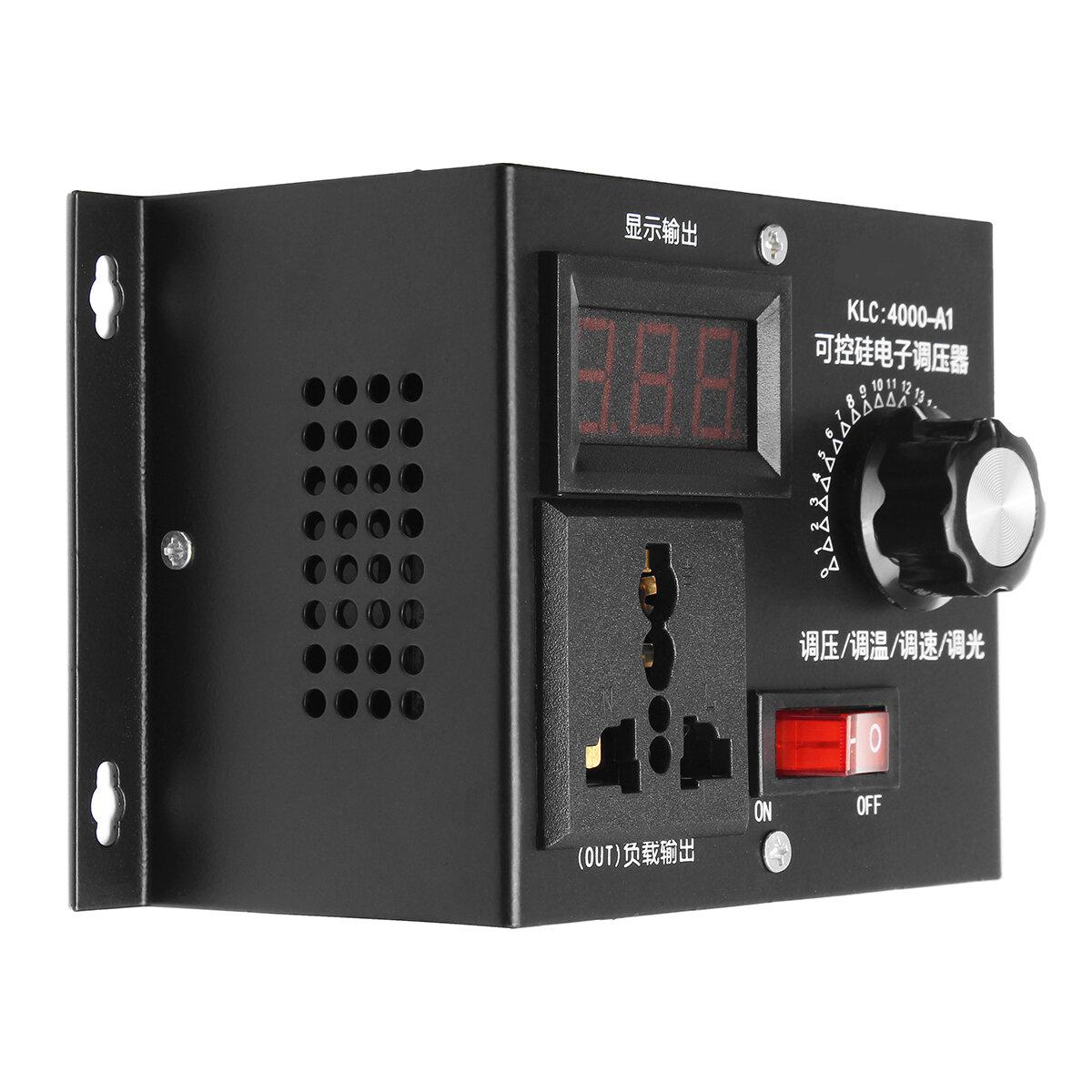 220V 4000W Universal Motor Speed Controller Variable Voltage Speed Regulator LED Display Motor Control Dimmer