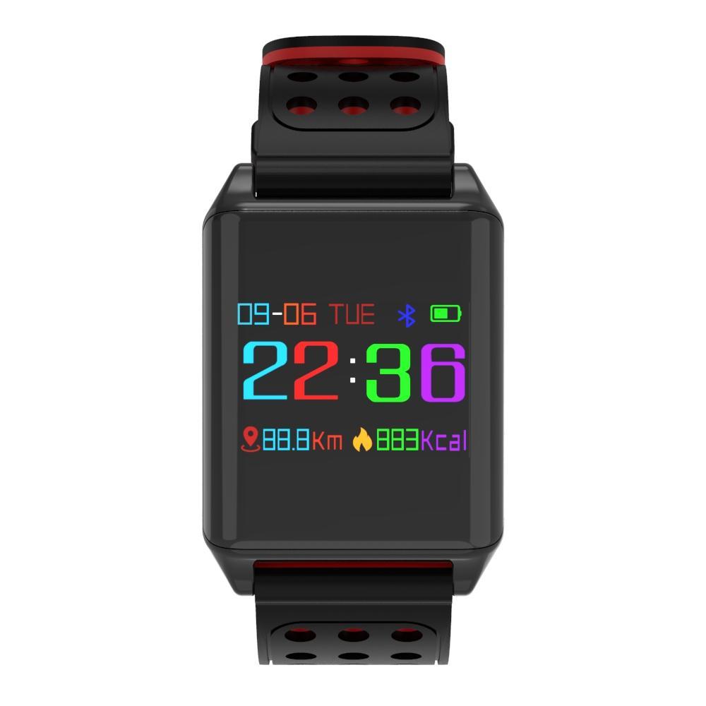 R11 OLED Blood Pressure Heart Rate Monitor Smart Watch IP67 Waterproof
