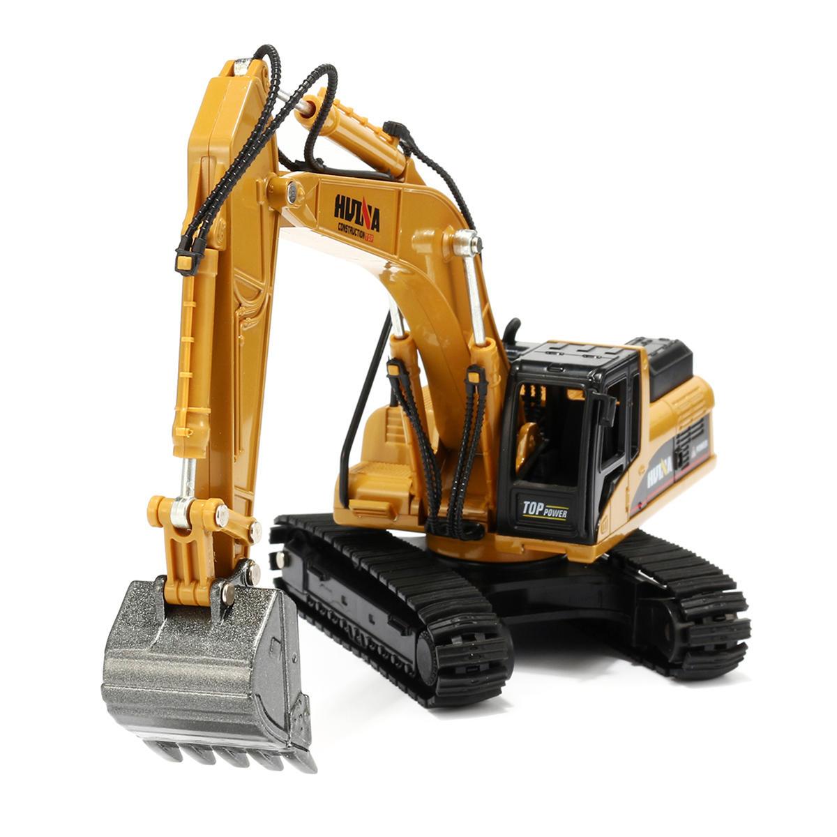 A máquina escavadora da liga do 1:50 brinca veículos moldados metal das carcaças do metal do modelo da engenharia