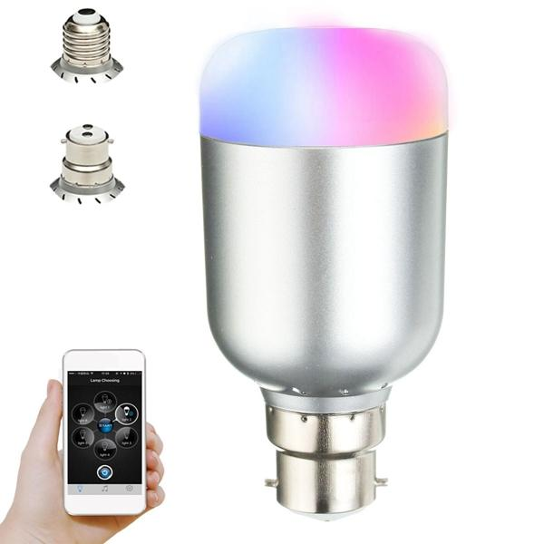 E27 B22 Wireless bluetooth Control Music Audio Speaker LED RGB Smart Bulb Light Lamp Bulb AC100-240V
