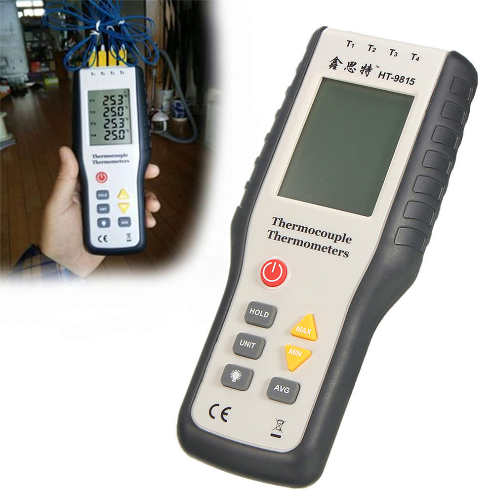 Handheld 4-Channel K-Type Digital Temperature Thermometer Thermometer Thermocouple Sensor