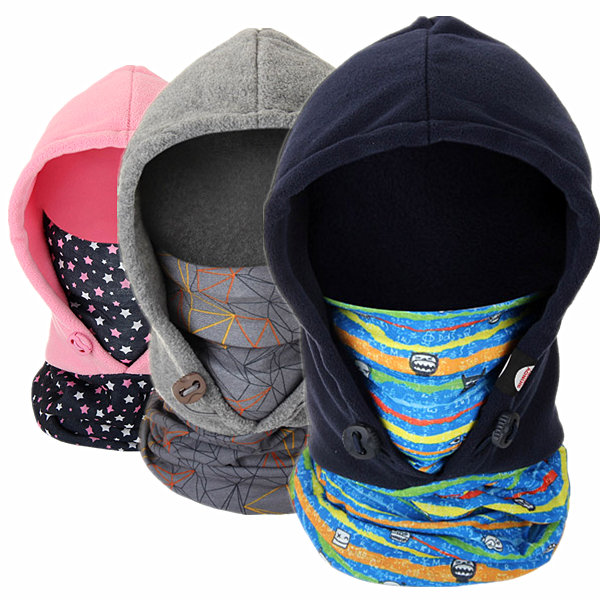 children s outdoor thermal head mask windproof ski cap double fleece face  mask scarf Sale - Banggood.com sold out bead4941c