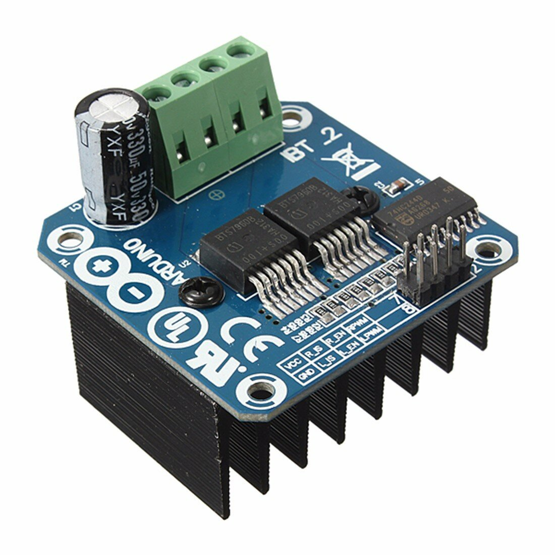 Semiconductor BTS7960B 5V 43A H-bridge Motor Driver Module For Arduino