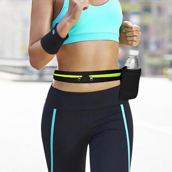 KCASA CF-BK08 Waterproof Speingy Sport Running Belt Waist Water Bottle Carrier Holder Pouch Bag