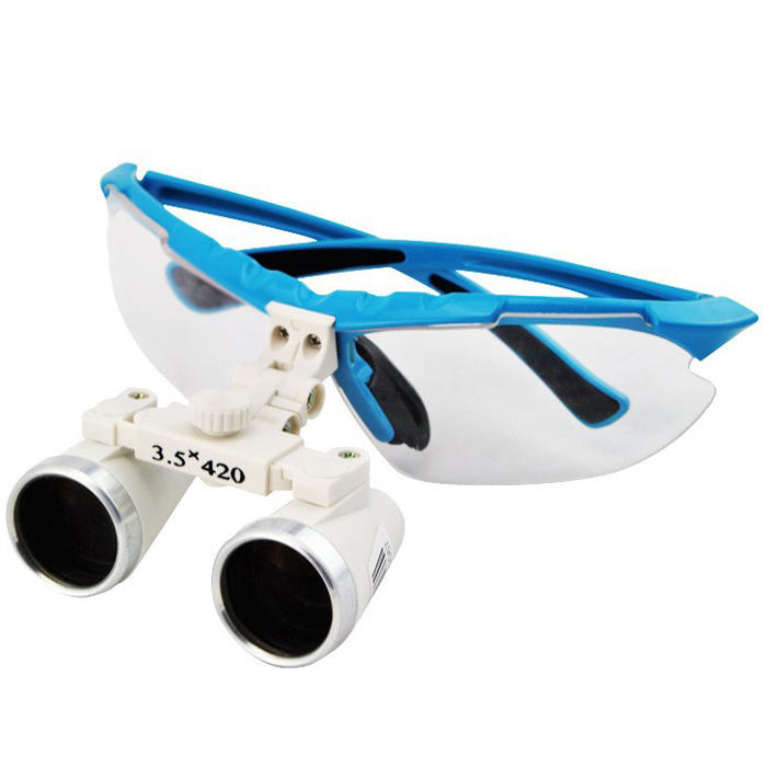 3.5x420mm Dental Surgical Loupe Magnifier Binocular Magnifier with LED Head Light Lamp Dental Loupes