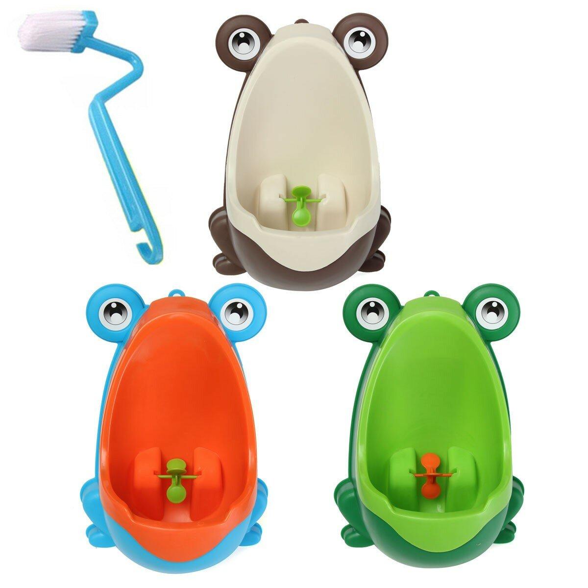 Adorables enfants de nettoyage de la brosse de toilette pot grenouille formation enfants urinoir enfant garçon pipi bain amovible