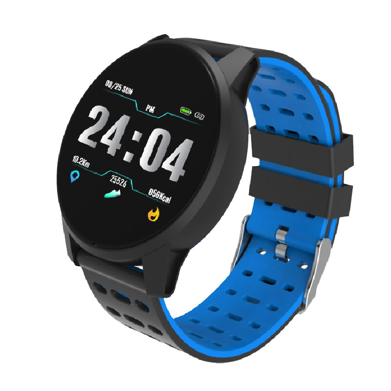Bakeey B2 Dynamic Heart Rate Blood Pressure Oxygen Round Dial Sport Modes Smart Watch