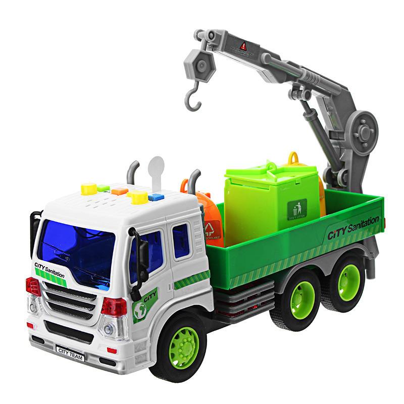 Inertial Simulation Truck Model Sliding Sanitation Vehicle With Light Music Toys For Kids Gift