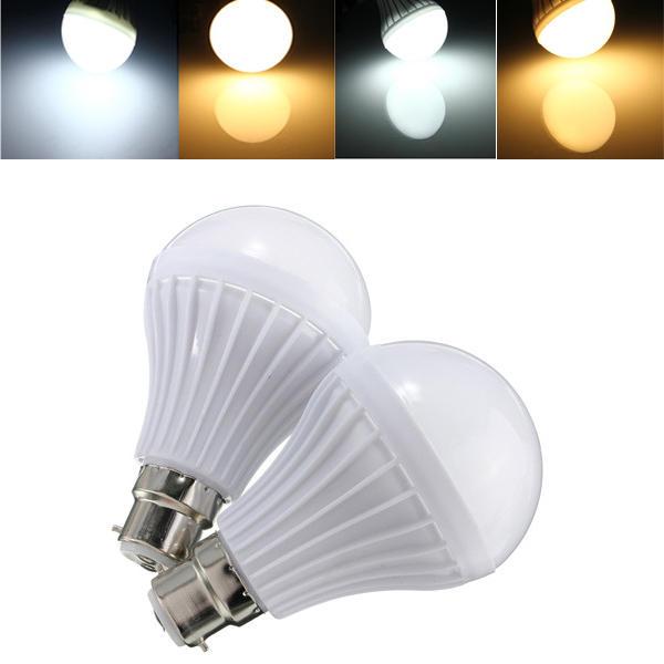 B22 5W 14 SMD 5630 หลอดไฟลูกโลกสีขาวอบอุ่น / ขาวลูกหลอดไฟพลาสติก 220-240V