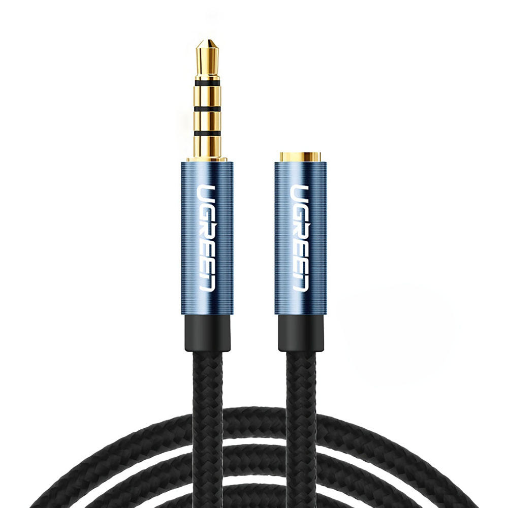 UGreen AV118 4-Pole 3.5mm Male to Female Audio Extension Cable Aux Cable