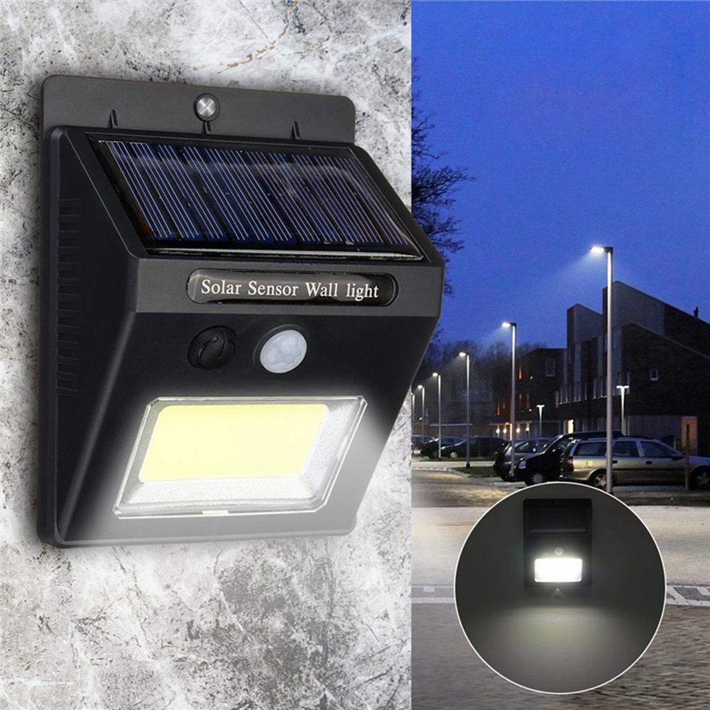 Tenaga surya Super Bright COB 24 LED PIR Motion Sensor Lampu Dinding Luar Ruangan Lampu Tahan