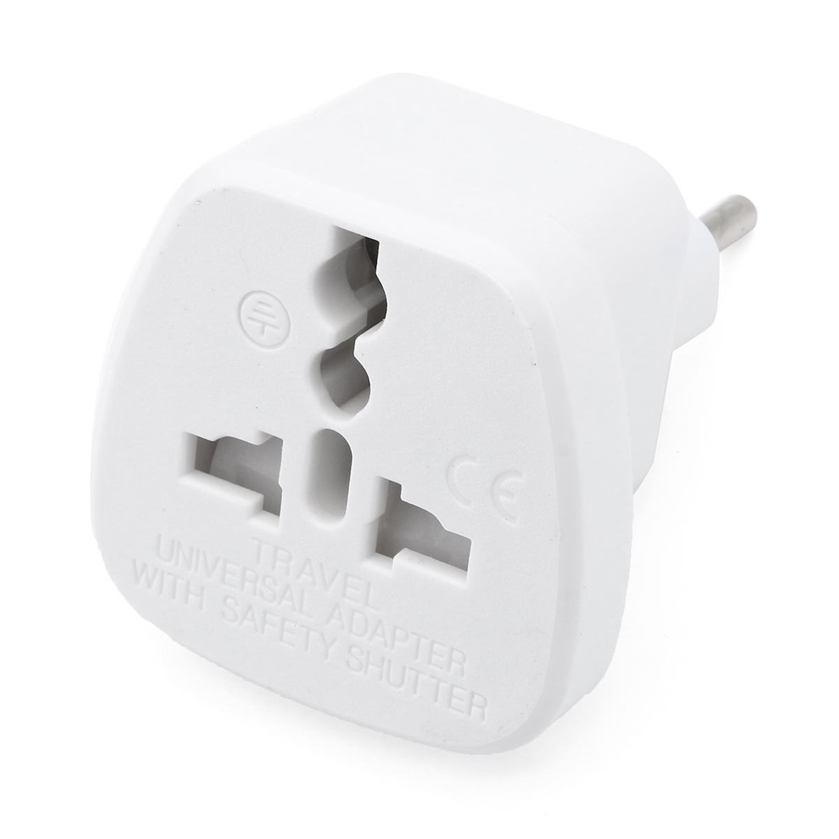 Universal UK/US/EU to 2 Pins India/Pakistan Adapter Converter Travelling Portable Plug Charger