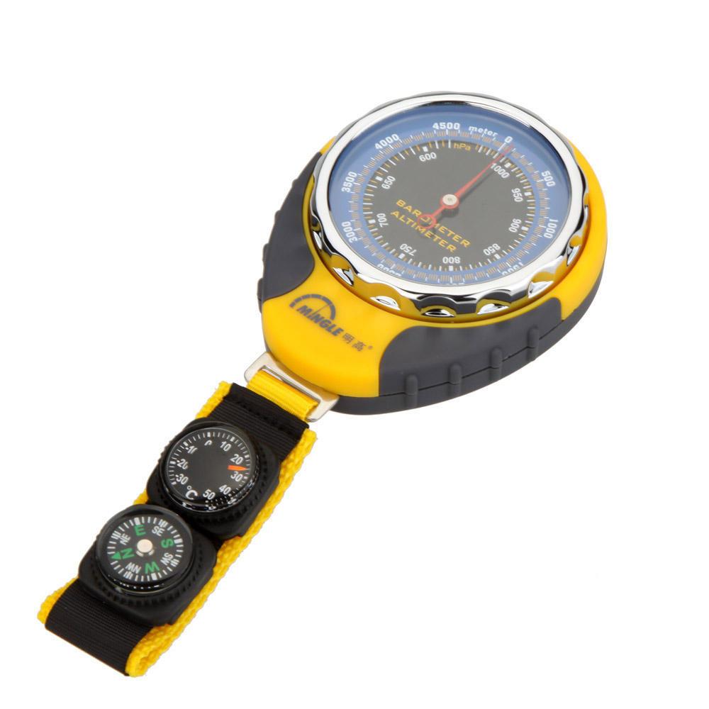 4 In 1 Functies Digitale Mini Compass Altimeter Thermometer Barometer Uitrusting Met Carabiner