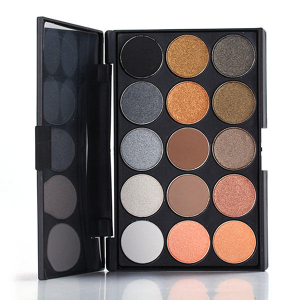 15 Colors Matte Shimmer Eye Shadow Palette Cosmetic Set Earth Colors