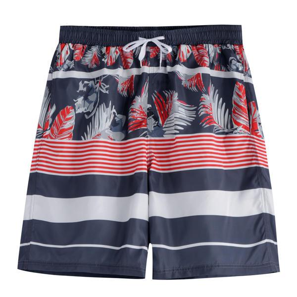 Patrón Printing Drawsting Quick Dry Loose Leisure Playa Board Shorts para hombres