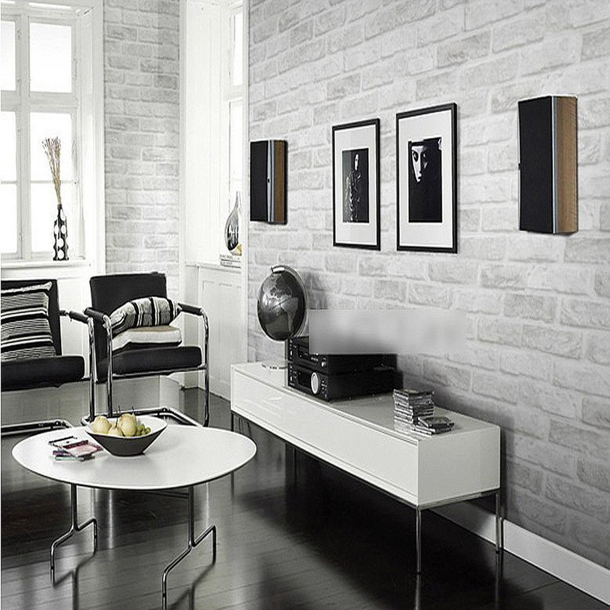 3d ziegelstein muster tapete rolle wei grau strukturierte tapeten home improvement wand dekor - 3d tapeten wand ...