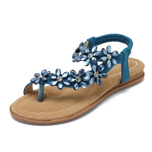 SOCOFY Women Casual Sandals Clip Toe Beach Bohemian Shoe