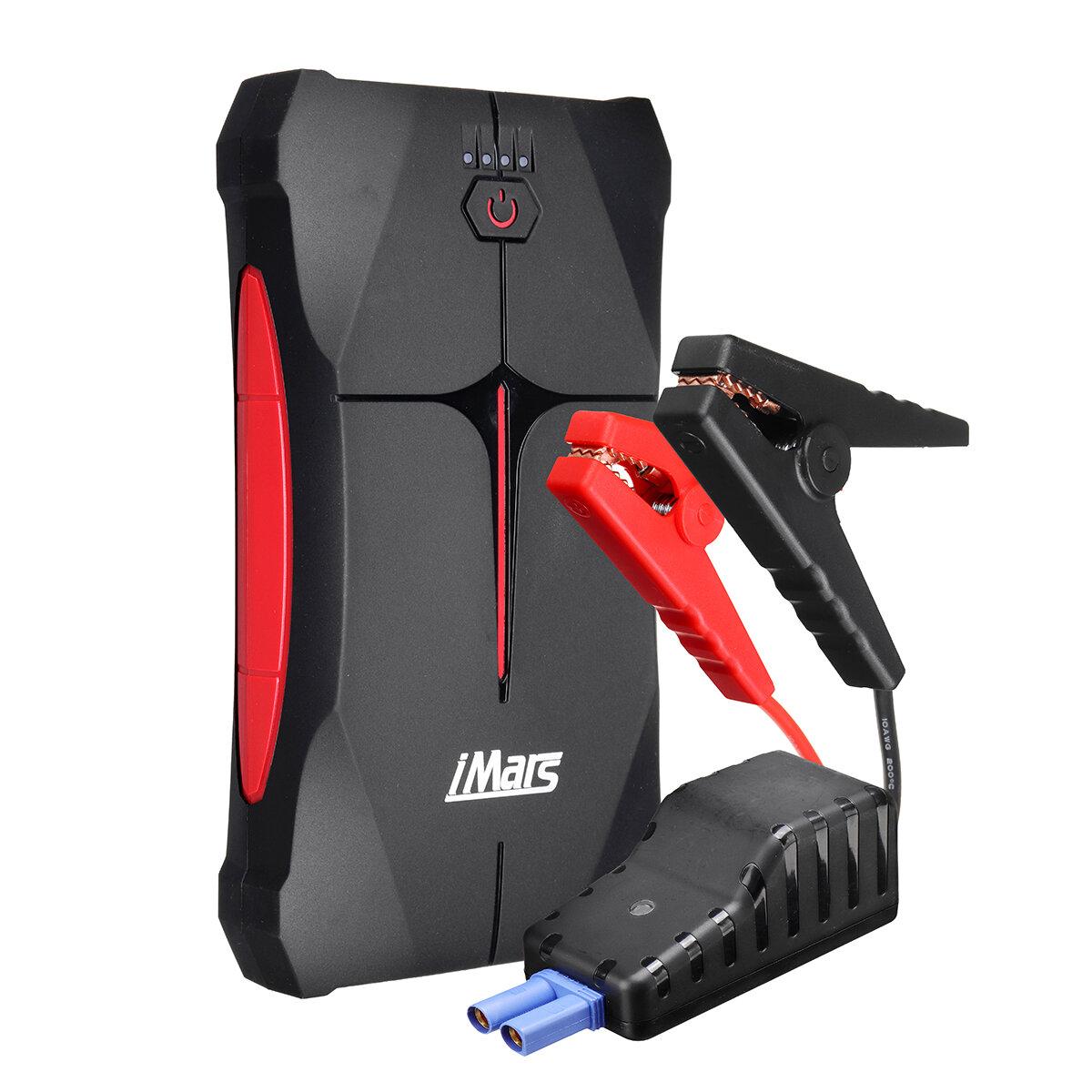 iMars Portable Car Jump Starter 1000A 13800mAh Powerbank Emergency Battery Booster Waterproof with LED Flashlight USB Port