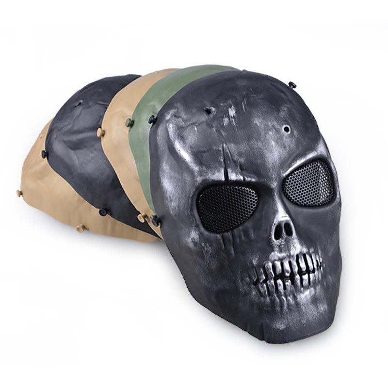 All'aperto maschera di protezione cs pieno viso maschera guardia wargame di paintball del airsoft cranio