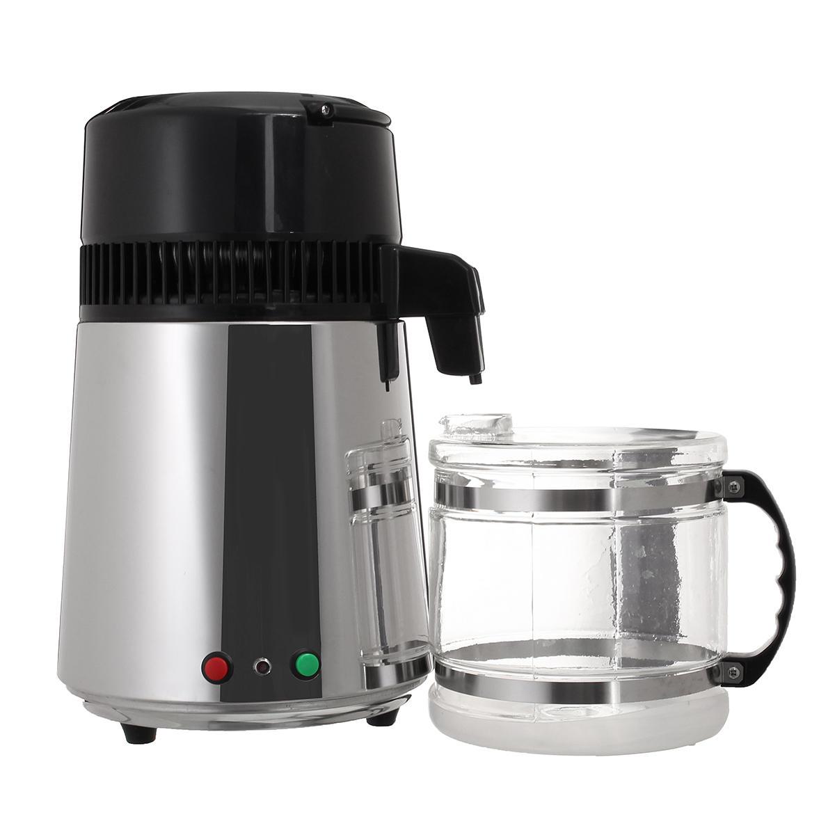 Máquina pura del filtro del purificador del destilador del agua del acero inoxidable de 4L 750W con la garrafa
