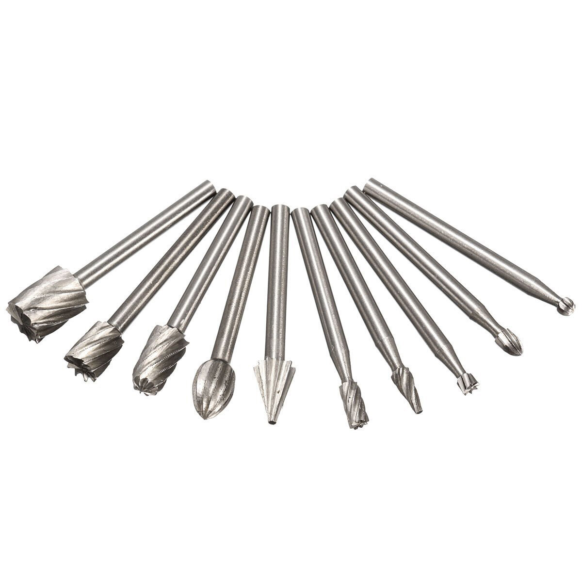 10pcs Dremel Rotary Tools Hss Mini Drill Bit Set Cutting Routing Router Grinding Bits Milling Cutters For Wood Carving Cut Tools Various Styles Abrasive Tools