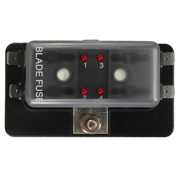 4 way blade fuse box holder ato car boat circuit led blown warning Blown Fuse in Fuse Box customer also viewed