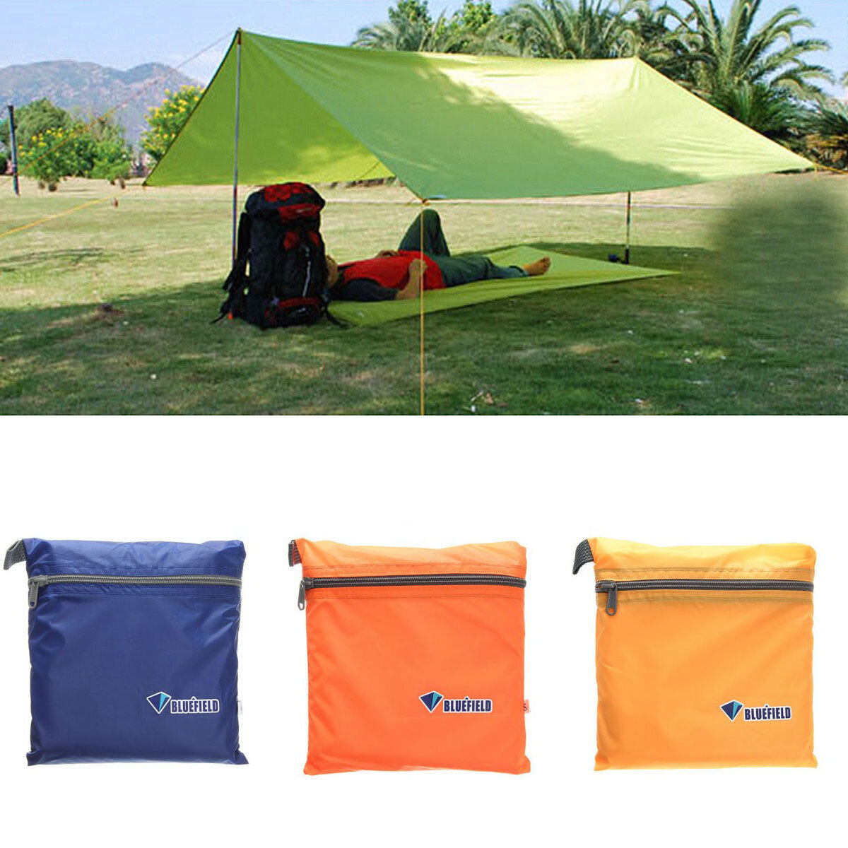 IPRee™ 250x150CM Portable Camping Tent Sunshade Outdoor Waterproof Shelter Canopy Tentage