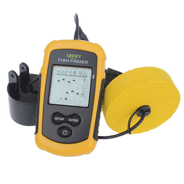 Везучий FF1108-1 Cable Line Fish Finder Alarm Max 100M Depth Portable Finder Sea Lake Рыбалка