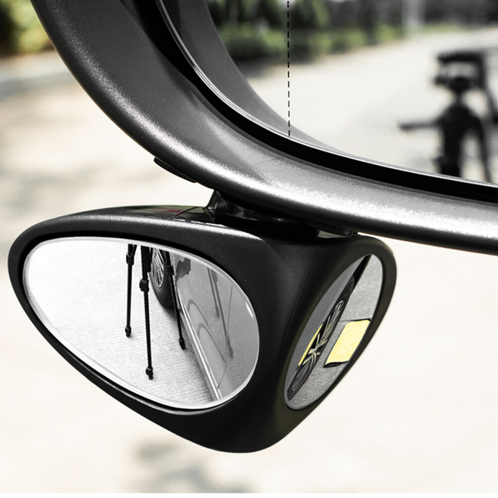 3R Car Double Side Blind Spot Rearview Mirror HD 360° Wide Angle Reversing Auxiliary Mirror