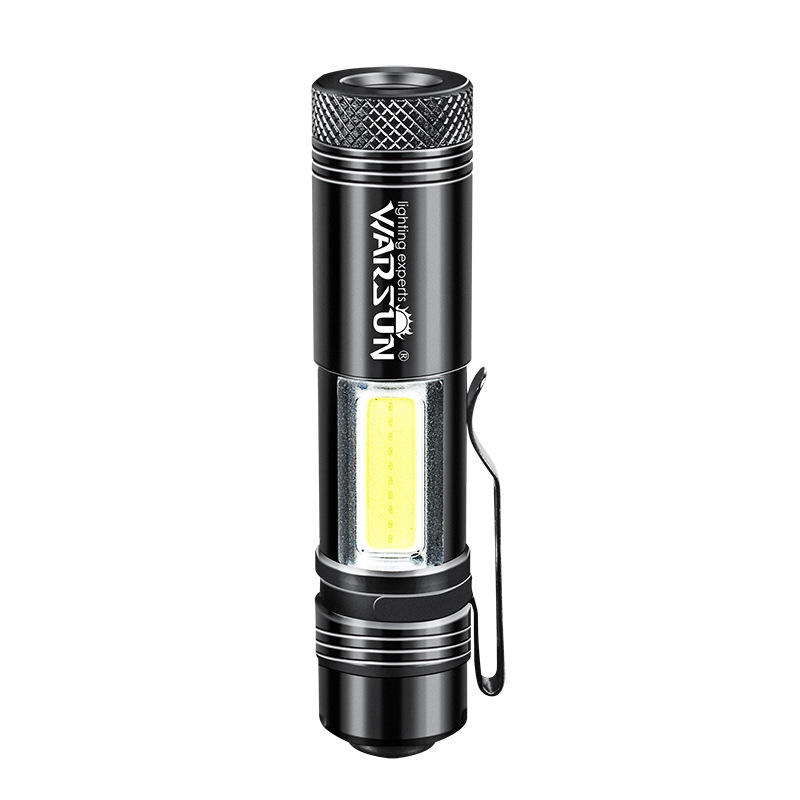 WARSUN Zoom-8 14500 AA EDC Flashlight Mini LED Torch IPX6 Every Day Carry Keychain Light