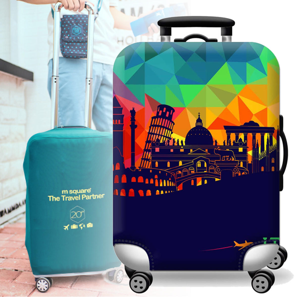 Elastic Luggage Suitcase Cover 20/24/28/32 in Dustproof Protector Protective Bag