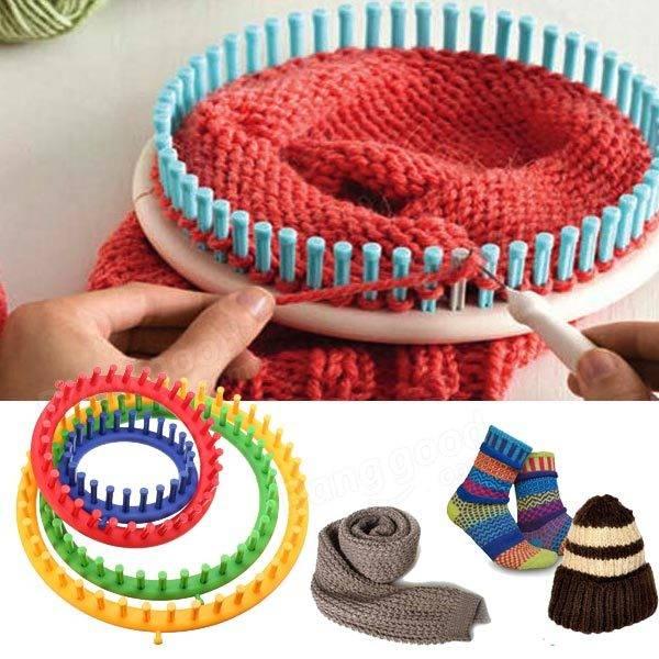 4 tamaño de la herramienta suéter sombrero telar hilo de lana ...