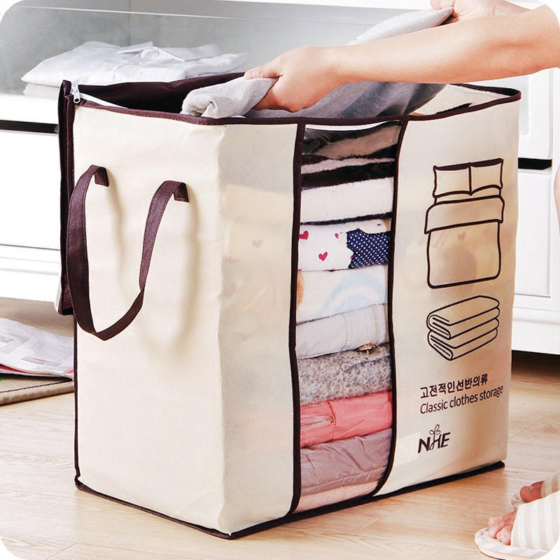 21e49afe3bce9 Honana HN-0828 الملابس المحمولة حقيبة التخزين غير المنسوجة لحاف كيس وسادة  بطانية خزانة منظم