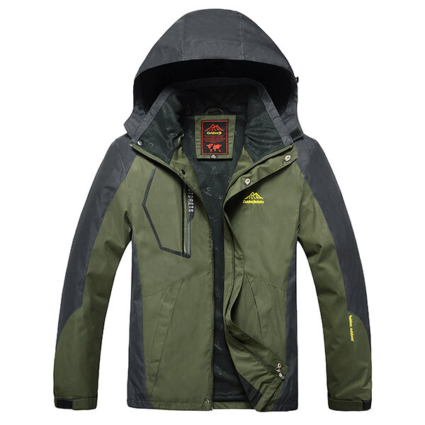 27460442 Outdoor Sports Casual Windproof Waterproof Big Size S-7XL Hooded  Mountaineering Jacket COD