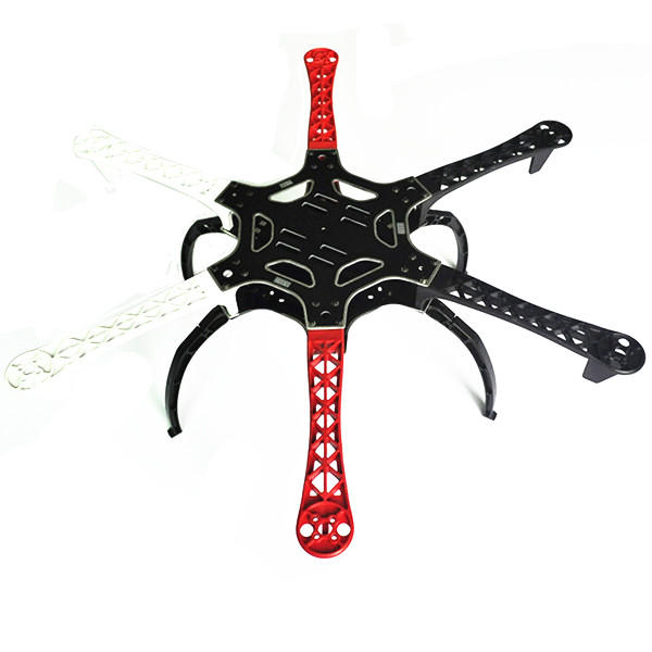 DIY F550 Hexa-Rotor Air Flame 550mm 6-Aixs Frame Kit with Universal Simple Landing Skid Gear
