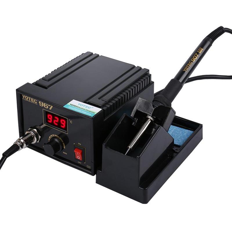 110-265V 967 Power Electric Soldering Station SMD Rework Welding Iron Holder Set