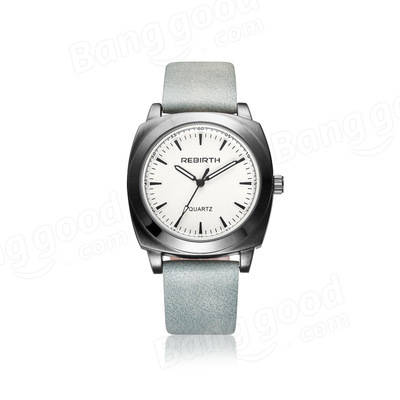 REBIRTH RE042 Casual Style Waterproof Women Wrist Watch Leather Strap Quartz Watches