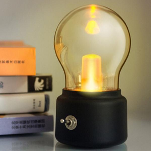 Retro 10W LED หลอดชาร์จไฟแบบ USB แบบใหม่ที่สามารถชาร์จไฟใหม่ได้