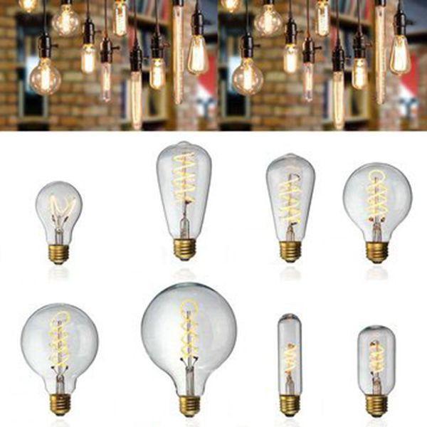 E27 ซองจดหมายแบบหรี่แสงได้ LED หลอดไฟย้อนยุคอุตสาหกรรม Retro Edison โคมไฟในตัวหลอดไฟ AC220V
