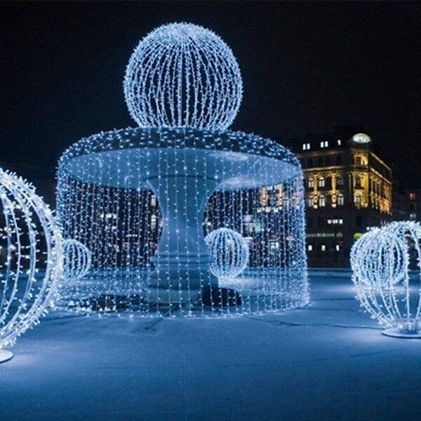 8mx3m 800 LED Luz de de la Cortina de Hadas de Cadena impermeable al Aire Libre para la Fiesta Boda Navidad 220V