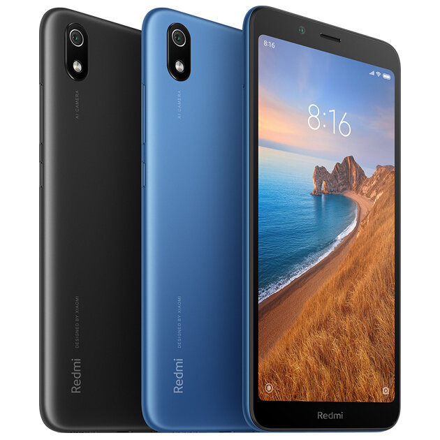 Xiaomi Redmi 7A Global Version 5.45 inch Face Unlock 4000mAh 2GB 16GB Snapdragon 439 Octa core 4G Smartphone – Matte Black