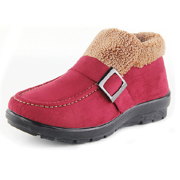 Ankle Boots Women Winter Fur Lining Keep Warm Snow Boots