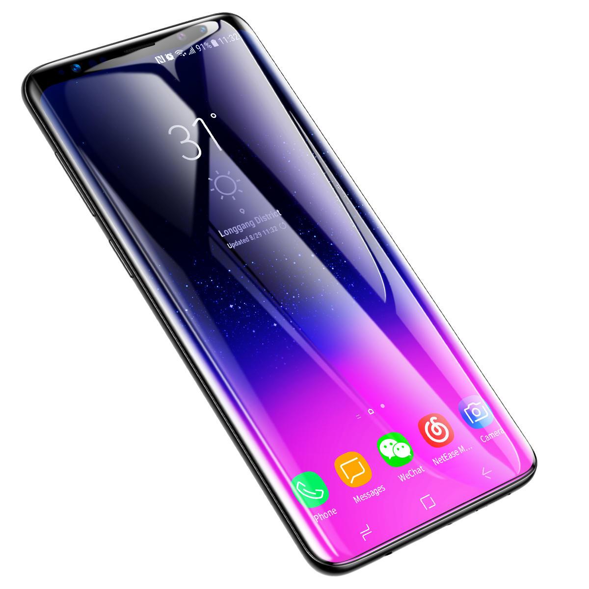 Baseus 0,3 mm todo o protetor de tela de vidro temperado superfície de tela para Samsung Galaxy S9