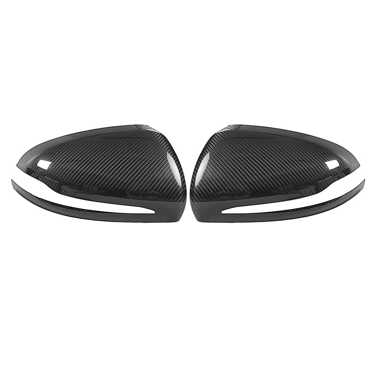 Carbon Fiber Side Car Mirror Cover Caps for 2015 to 18 Mercedes W205 C300 C400 450