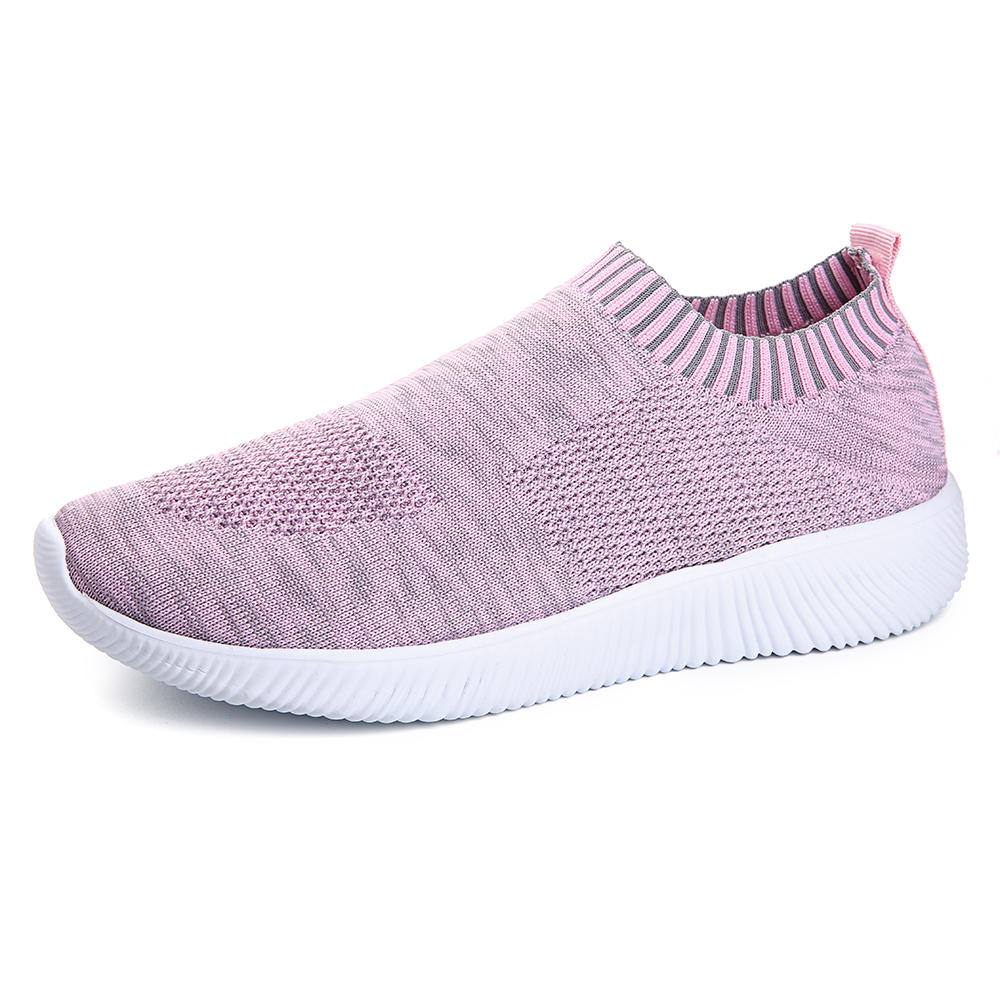 Large Size Women Mesh Breathable Slip On Casual Sneakers