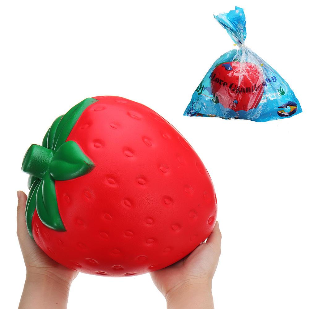 huge strawberry squishy jumbo 25 20cm fruit slow rising soft giant rh banggood com
