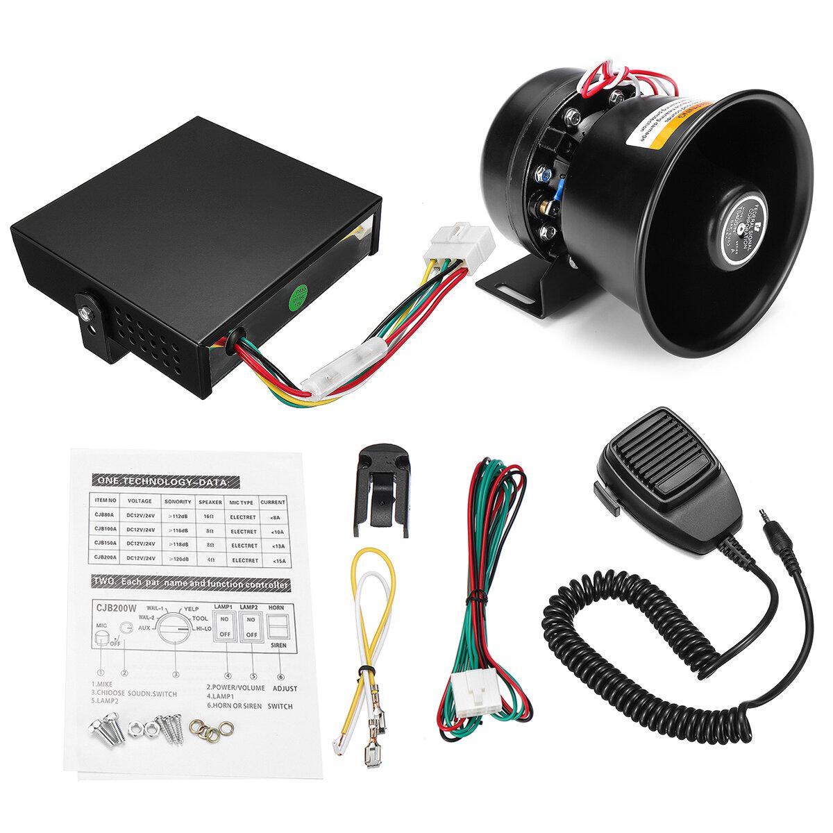 12v 400w 9 Sound 150db Loud Car Warning Alarm Police Fire