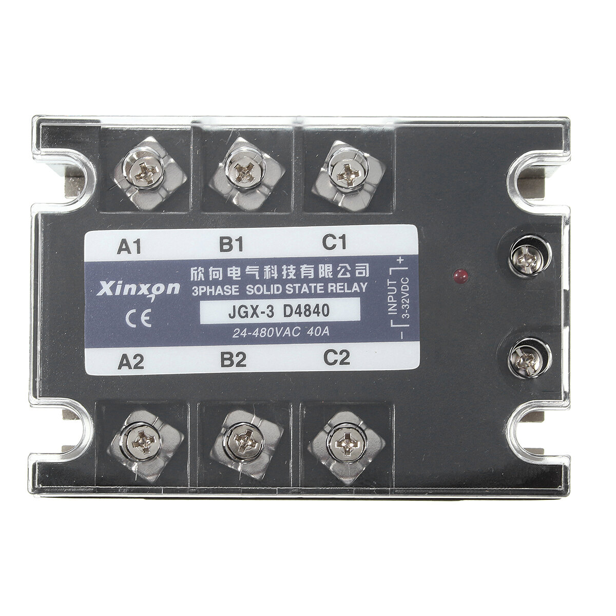 Jgx 3 D4840 Three Phase Solid State Relay Ssr Dc Ac 40a Input Control