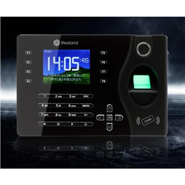 Realand k180 2.4 pouces tft colorie le système d'assistance de temps d'empreinte digitale de réseau en noir