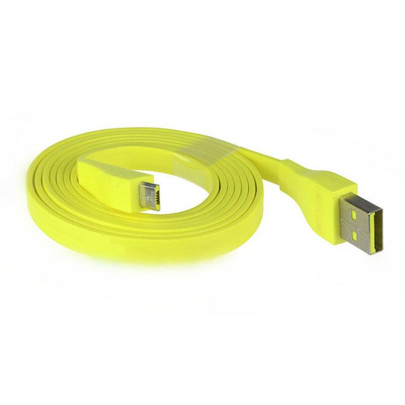 Cable de carga micro USB amarillo 1.2M para Logitech UE BOOM Bluetooth Altavoz